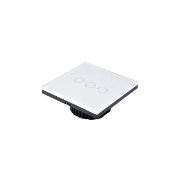 35152 - Сенсорный выключатель 3 в 1 Smart Home Light с подсветкой и дистанционным пультом RF433: закаленное стекло, защита от молнии