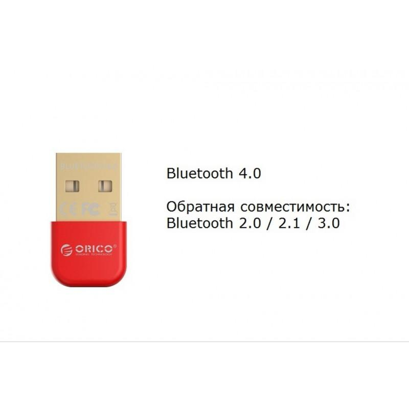 Bluetooth адаптер ORICO BTA-403 – Bluetooth 4.0, USB 2.0, 3 Мб/с, до 20 метров