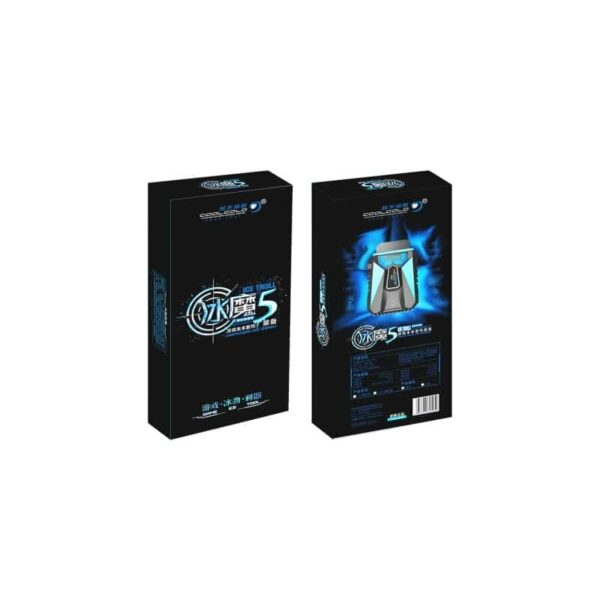 35208 - Портативный вентилятор для ноутбука CoolCold Ice Troll 5 с USB-питанием: выбор скорости, ЖК-дисплей, подсветка