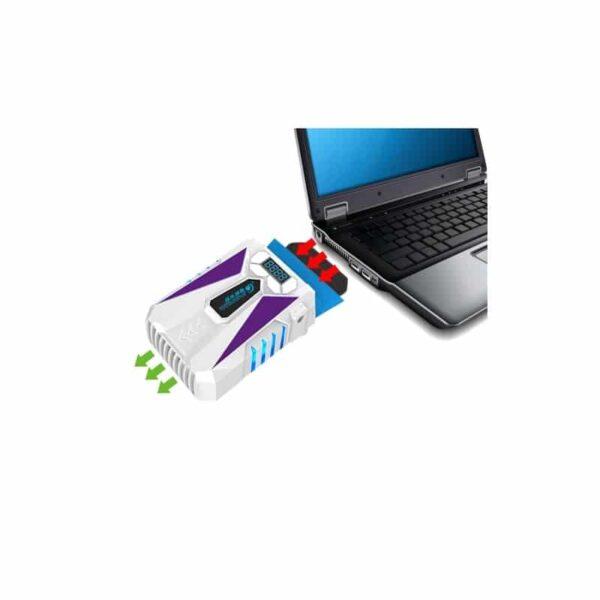 35209 - Портативный вентилятор для ноутбука CoolCold Ice Troll 5 с USB-питанием: выбор скорости, ЖК-дисплей, подсветка