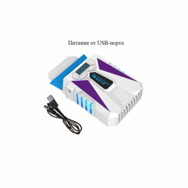 35211 - Портативный вентилятор для ноутбука CoolCold Ice Troll 5 с USB-питанием: выбор скорости, ЖК-дисплей, подсветка