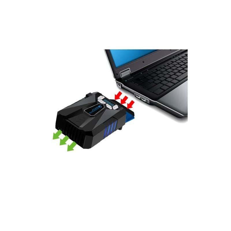Внешний вентилятор для ноутбука CoolCold Ice Troll 5 с питанием от сети  AC 220В: выбор скорости кулера, ЖК с подсветкой