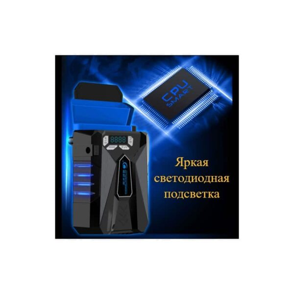 35219 - Внешний вентилятор для ноутбука CoolCold Ice Troll 5 с питанием от сети AC 220В: выбор скорости кулера, ЖК с подсветкой