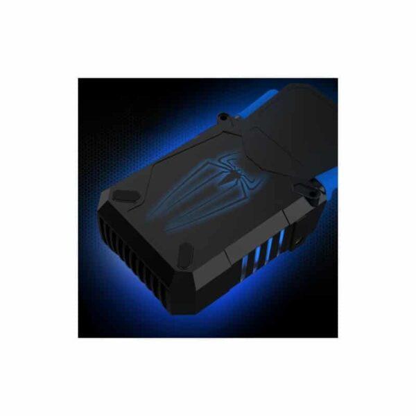 35221 - Внешний вентилятор для ноутбука CoolCold Ice Troll 5 с питанием от сети AC 220В: выбор скорости кулера, ЖК с подсветкой