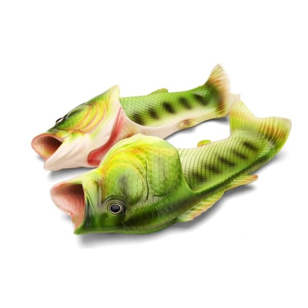35233 - Смешные пляжные тапки-рыбы/ шлепанцы в форме рыбы (рыбашаги): все размеры