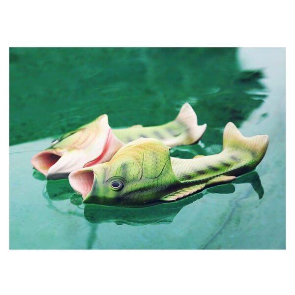 35238 - Смешные пляжные тапки-рыбы/ шлепанцы в форме рыбы (рыбашаги): все размеры