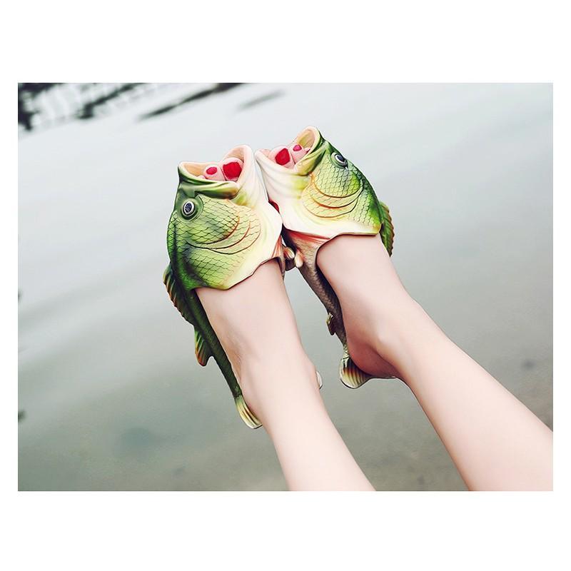 Смешные пляжные тапки-рыбы/ шлепанцы в форме рыбы (рыбашаги): все размеры 211373