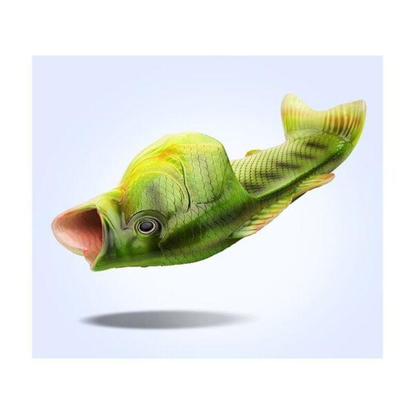 35243 - Смешные пляжные тапки-рыбы/ шлепанцы в форме рыбы (рыбашаги): все размеры