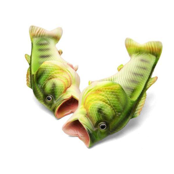 35244 - Смешные пляжные тапки-рыбы/ шлепанцы в форме рыбы (рыбашаги): все размеры