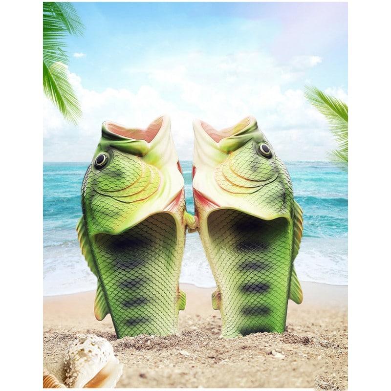 Смешные пляжные тапки-рыбы/ шлепанцы в форме рыбы (рыбашаги): все размеры 211377