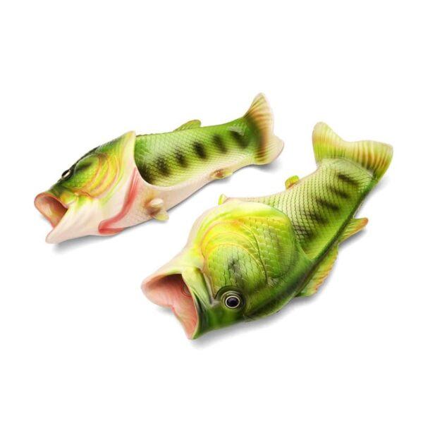 35247 - Смешные пляжные тапки-рыбы/ шлепанцы в форме рыбы (рыбашаги): все размеры