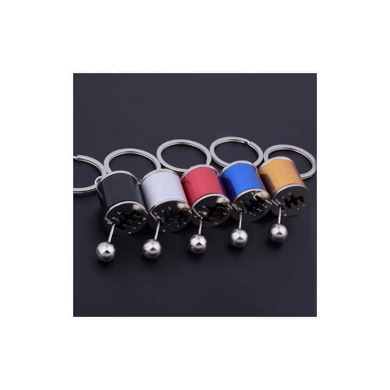 Брелок для ключей - Переключатель скоростей в миниатюре - Черный