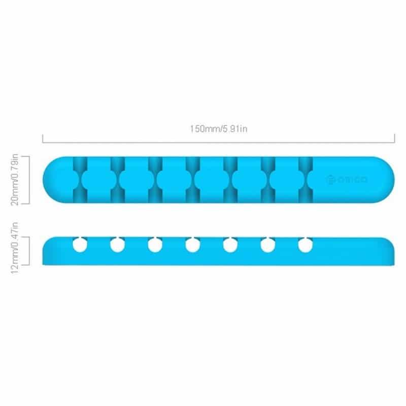 Удобный силиконовый органайзер для проводов ORICO CBS7 - Синий