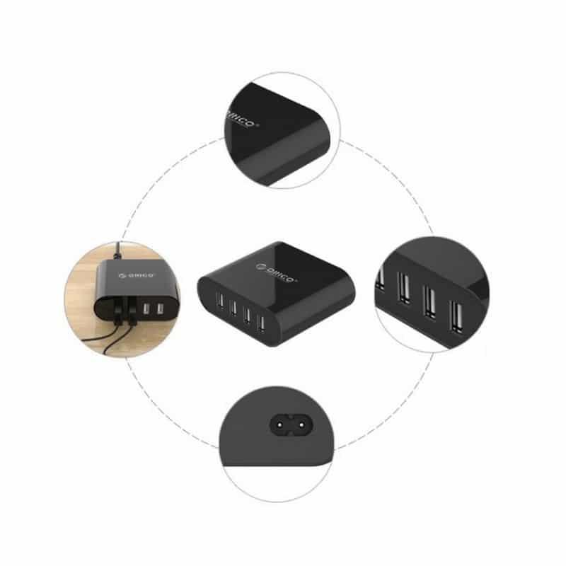4-портовое зарядное устройство ORICO DCH-4u – 5V 2.1A x 2 и 5V 1A x 2 / 5V 6A, быстрая зарядка 211421