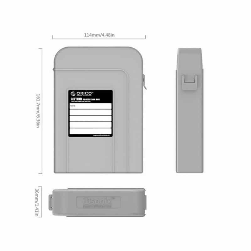 3.5-дюймовый кейс для хранения жестких дисков ORICO PHI-5 – водонепроницаемый, пылезащитный, противоударный 211438