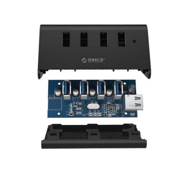 35332 - Многофункциональный USB HUB от ORICO - 4 х USB 2.0 / USB 3.0, кабель 1 м / 2 м, 5 Гб/с, подставка