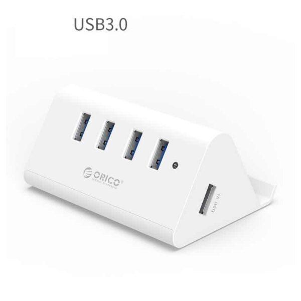 35334 - Многофункциональный USB HUB от ORICO - 4 х USB 2.0 / USB 3.0, кабель 1 м / 2 м, 5 Гб/с, подставка