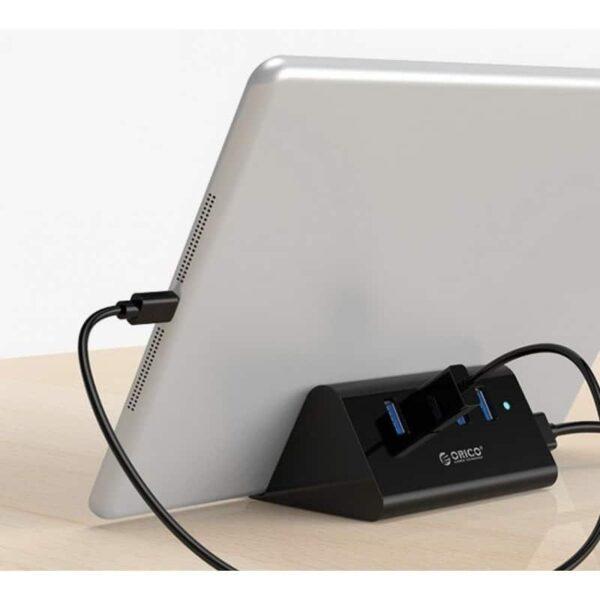 35335 - Многофункциональный USB HUB от ORICO - 4 х USB 2.0 / USB 3.0, кабель 1 м / 2 м, 5 Гб/с, подставка