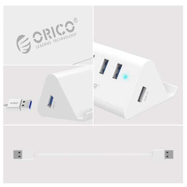 35336 - Многофункциональный USB HUB от ORICO - 4 х USB 2.0 / USB 3.0, кабель 1 м / 2 м, 5 Гб/с, подставка