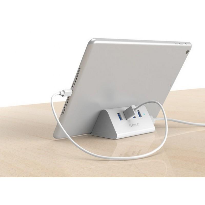 35337 - Многофункциональный USB HUB от ORICO - 4 х USB 2.0 / USB 3.0, кабель 1 м / 2 м, 5 Гб/с, подставка
