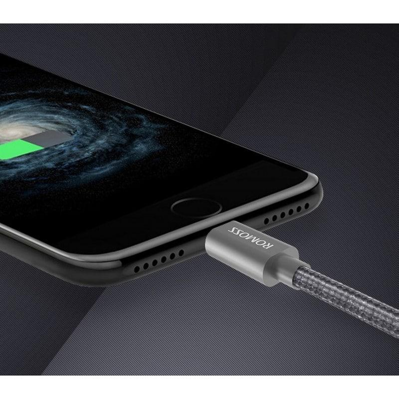 Универсальный зарядный кабель 3в1 ROMOSS Medusa CB25n – быстрая зарядка 2.1A, 1.5 м, Micro USB, Type-C, Lightning 211498