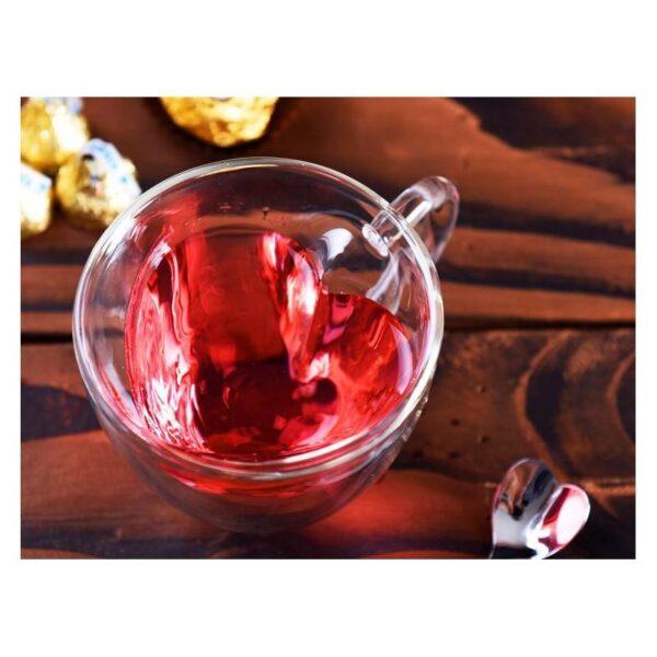 35403 - Прозрачная стеклянная чашка в форме сердечка: 180 мл, 240 мл