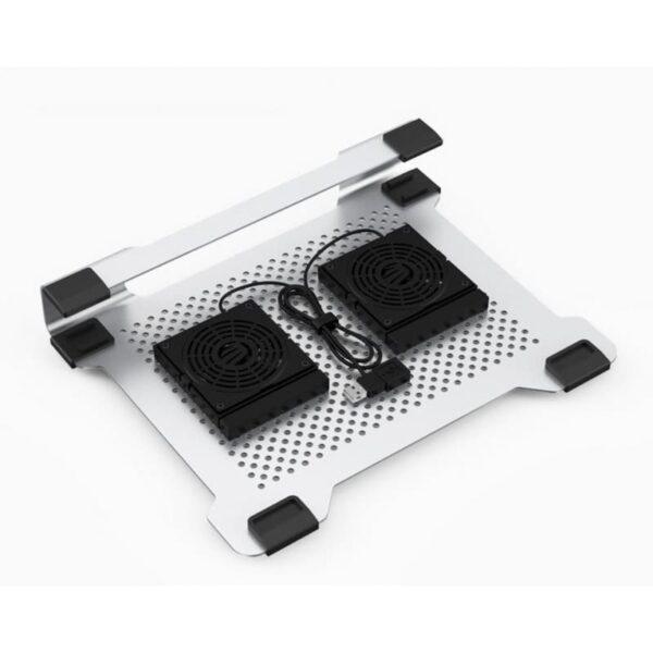 """35517 - Алюминиевая подставка-радиатор Orico NA15 для 14"""", 15.6"""" и 17-дюймовых ноутбуков (с двумя вентиляторами)"""