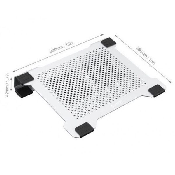 """35518 - Алюминиевая подставка-радиатор Orico NA15 для 14"""", 15.6"""" и 17-дюймовых ноутбуков (с двумя вентиляторами)"""