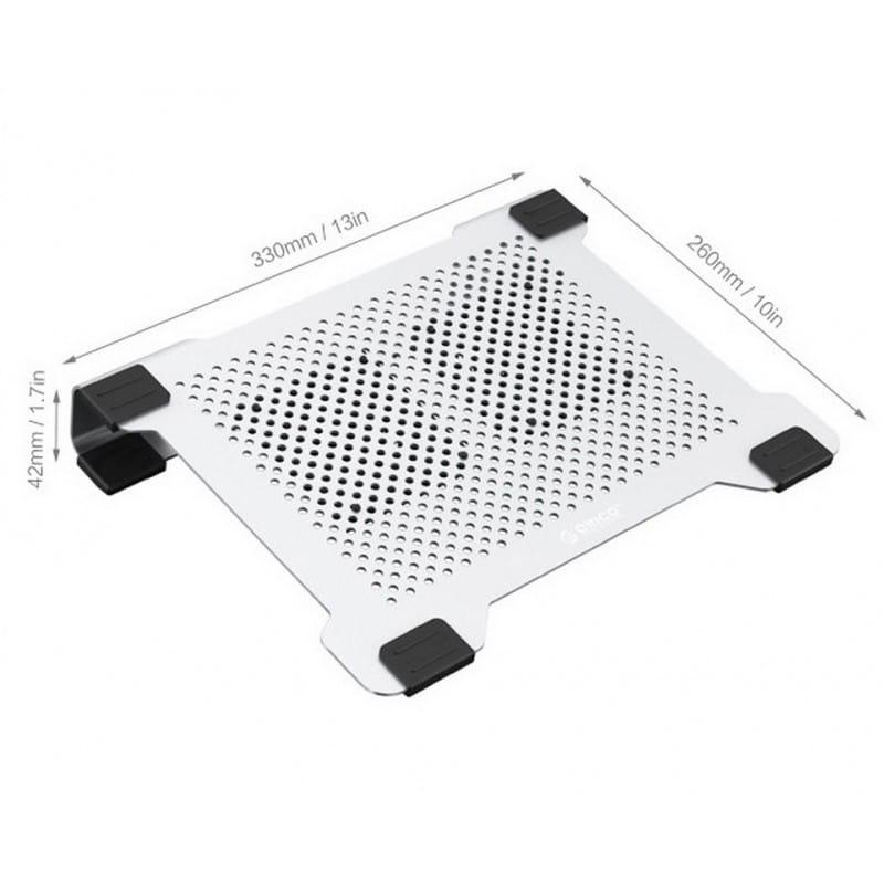 Алюминиевая подставка-радиатор Orico NA15 для 14″, 15.6″ и 17-дюймовых ноутбуков (с двумя вентиляторами) 211648