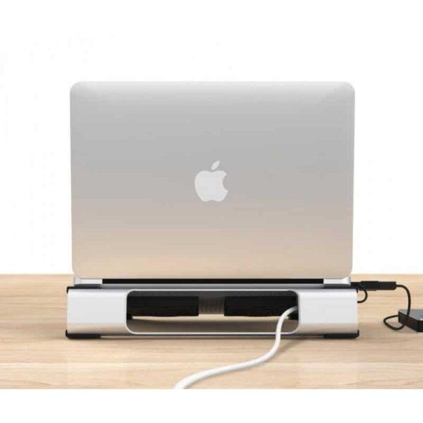 """35519 - Алюминиевая подставка-радиатор Orico NA15 для 14"""", 15.6"""" и 17-дюймовых ноутбуков (с двумя вентиляторами)"""