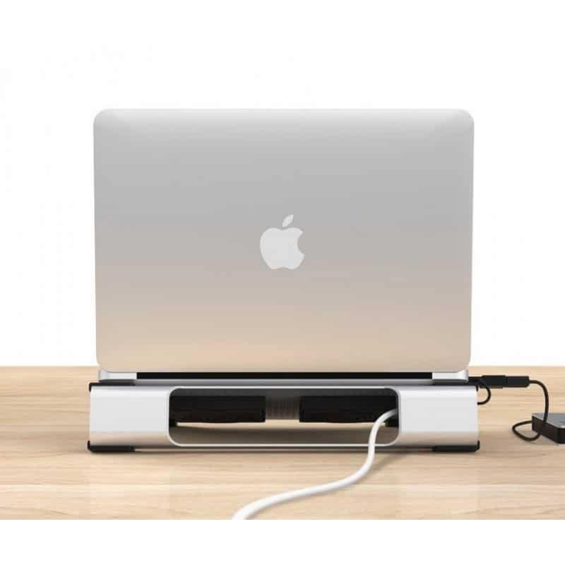 Алюминиевая подставка-радиатор Orico NA15 для 14″, 15.6″ и 17-дюймовых ноутбуков (с двумя вентиляторами) 211649