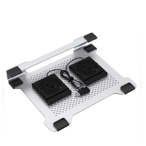 """35521 - Алюминиевая подставка-радиатор Orico NA15 для 14"""", 15.6"""" и 17-дюймовых ноутбуков (с двумя вентиляторами)"""
