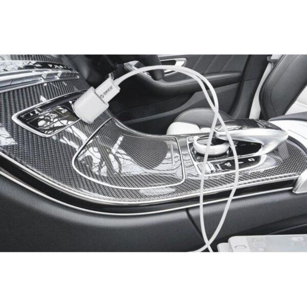 35585 - Автомобильное зарядное устройство ORICO UCL-2U - 2 х USB, интеллектуальная быстрая зарядка, 5V 3.4A 17Вт