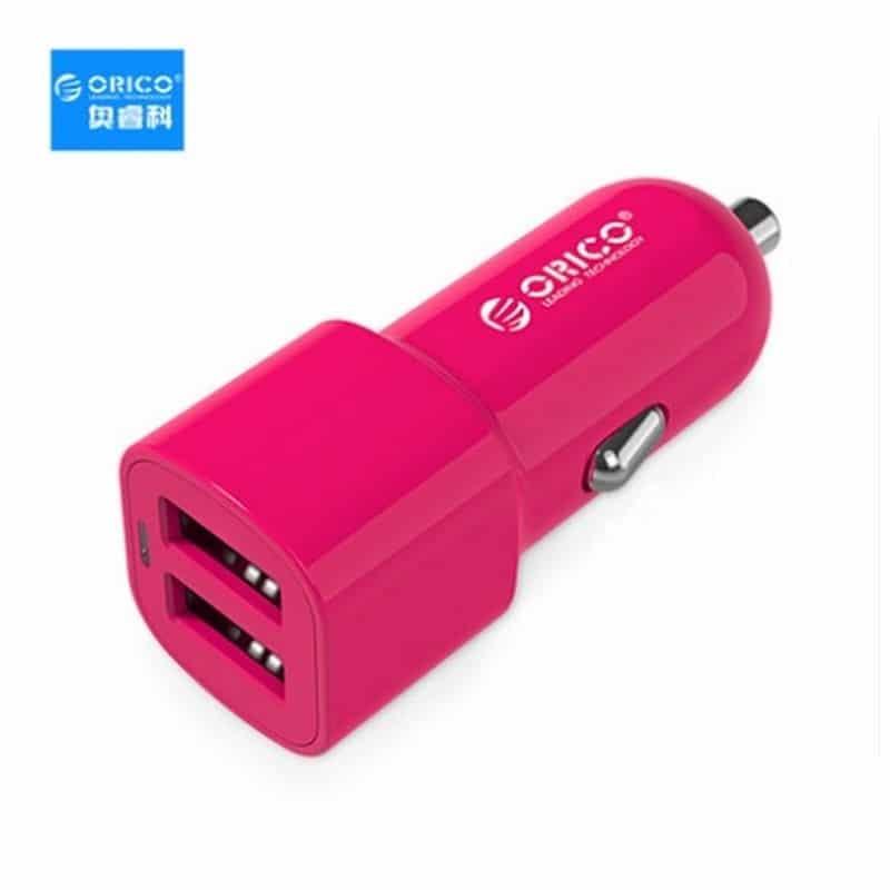 Автомобильное зарядное устройство ORICO UCL-2U – 2 х USB, интеллектуальная быстрая зарядка, 5V 3.4A 17Вт 211687