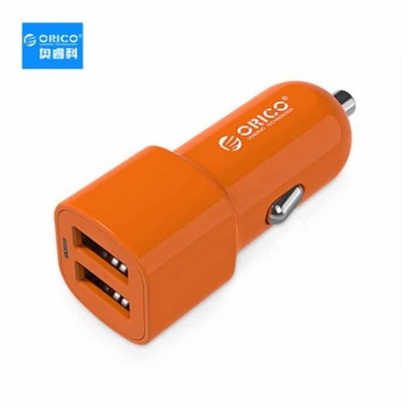 Автомобильное зарядное устройство ORICO UCL-2U – 2 х USB, интеллектуальная быстрая зарядка, 5V 3.4A 17Вт 211688