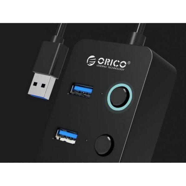 35602 - 4-портовый HUB ORICO W9PH4 - 4 x USB 3.0, 0.3 м / 1.3 м кабель, переключатели, до 5 Гб/с