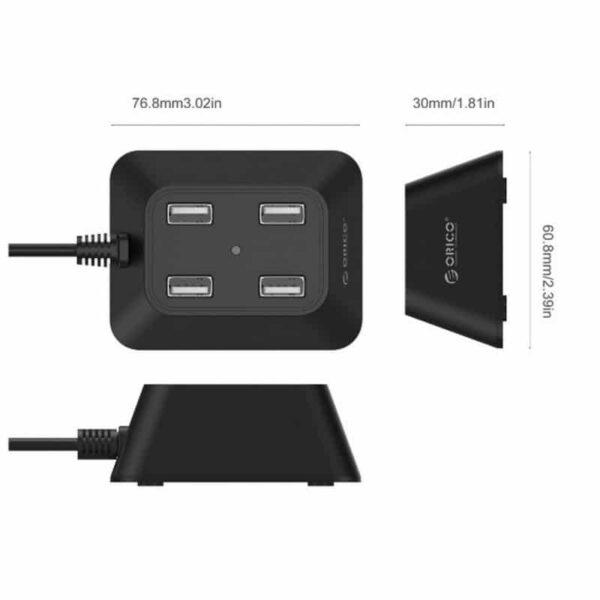 35705 - Настольный 4-портовый USB HUB ORICO DF4U-U2 с кабелем 0.5 / 1 / 1.5 м