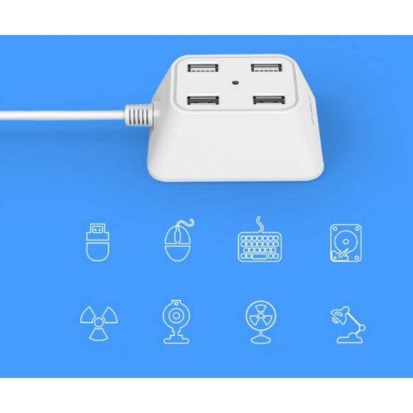 35708 - Настольный 4-портовый USB HUB ORICO DF4U-U2 с кабелем 0.5 / 1 / 1.5 м