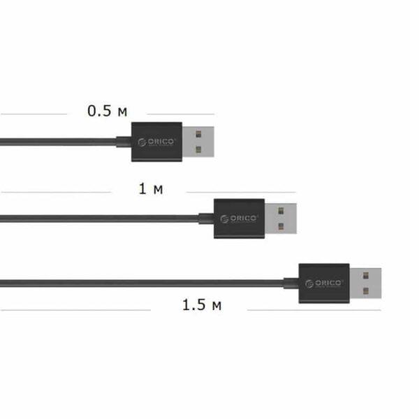 35709 - Настольный 4-портовый USB HUB ORICO DF4U-U2 с кабелем 0.5 / 1 / 1.5 м