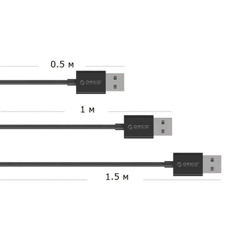 Настольный 4-портовый USB HUB ORICO DF4U-U2 с кабелем 0.5 / 1 / 1.5 м 211794