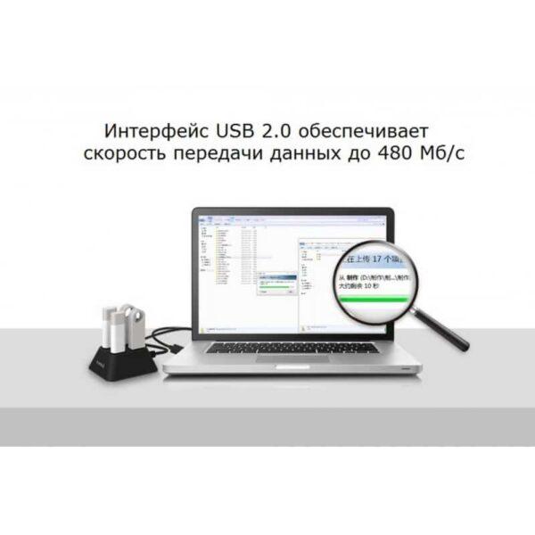35710 - Настольный 4-портовый USB HUB ORICO DF4U-U2 с кабелем 0.5 / 1 / 1.5 м