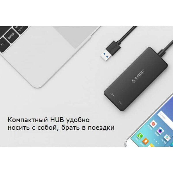 35715 - Мультифункциональный USB концентратор ORICO H3TS-У3 - 3 х USB 3.0, TF / SD-ридер