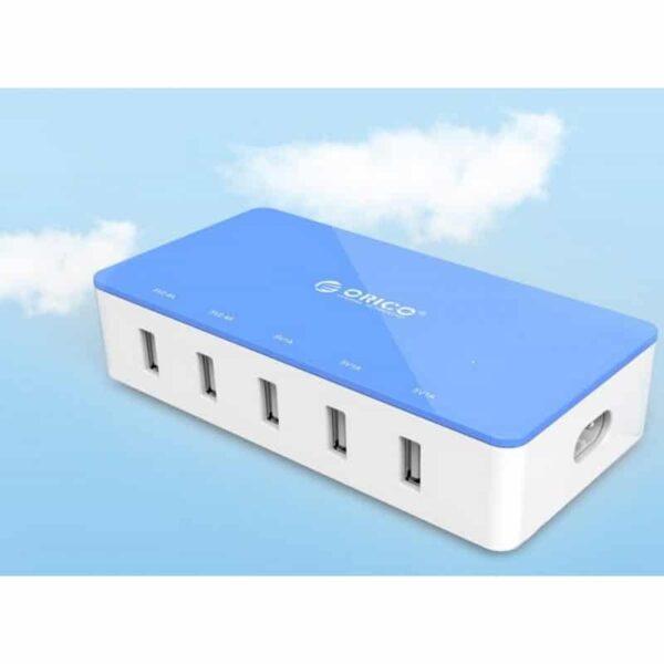 35724 - Универсальное 5-портовое зарядное устройство ORICO CSH-5U - 2 х USB 5V 2.4A, 3 x USB 5V 1A
