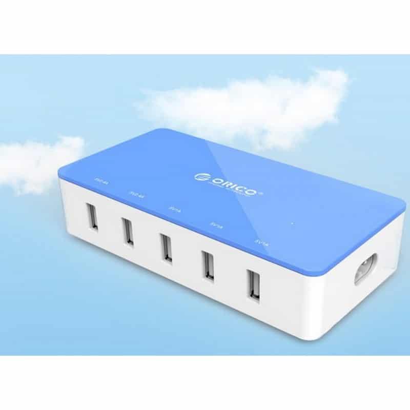 Универсальное 5-портовое зарядное устройство ORICO CSH-5U – 2 х USB 5V 2.4A, 3 x USB 5V 1A 211808