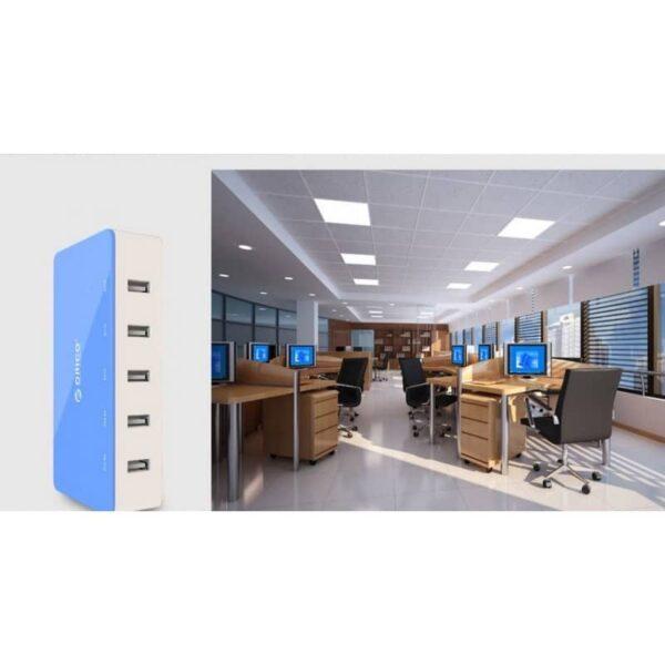 35725 - Универсальное 5-портовое зарядное устройство ORICO CSH-5U - 2 х USB 5V 2.4A, 3 x USB 5V 1A