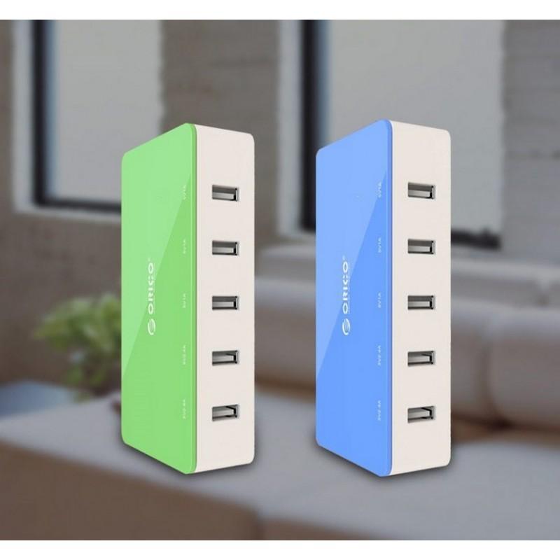 35726 - Универсальное 5-портовое зарядное устройство ORICO CSH-5U - 2 х USB 5V 2.4A, 3 x USB 5V 1A