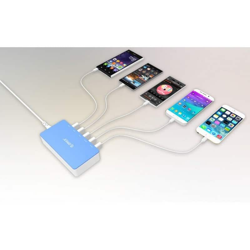 Универсальное 5-портовое зарядное устройство ORICO CSH-5U – 2 х USB 5V 2.4A, 3 x USB 5V 1A 211810