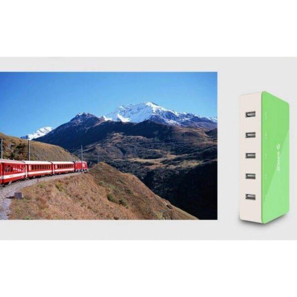 35728 - Универсальное 5-портовое зарядное устройство ORICO CSH-5U - 2 х USB 5V 2.4A, 3 x USB 5V 1A