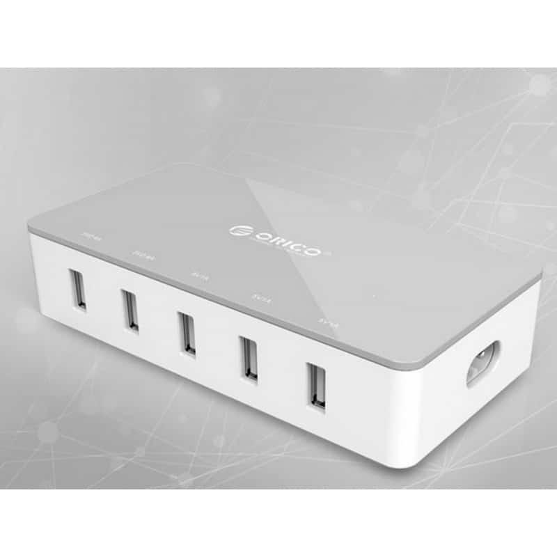 Универсальное 5-портовое зарядное устройство ORICO CSH-5U – 2 х USB 5V 2.4A, 3 x USB 5V 1A 211813