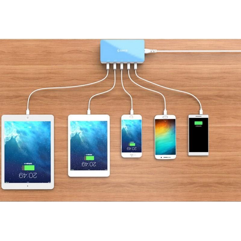 Универсальное 5-портовое зарядное устройство ORICO CSH-5U – 2 х USB 5V 2.4A, 3 x USB 5V 1A 211814